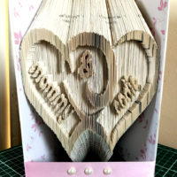 Mammy and Codie hand cut book