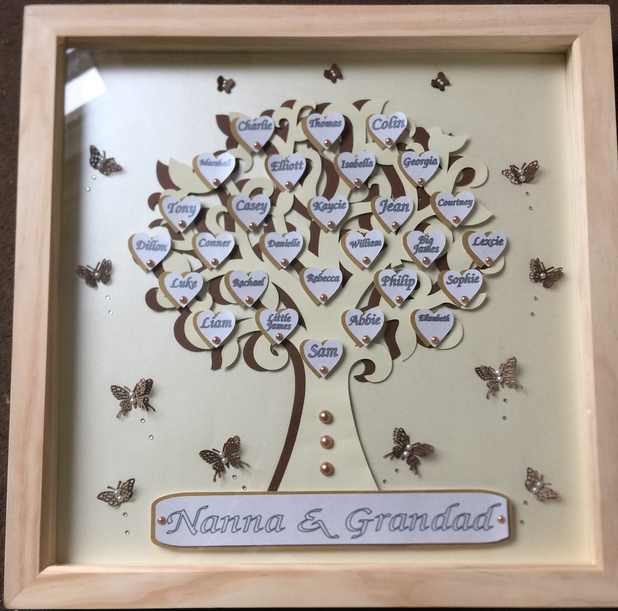 Large Family Tree Frames Handcrafted With Love